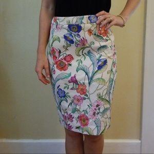 Ann Taylor pencil skirt size 2 floral